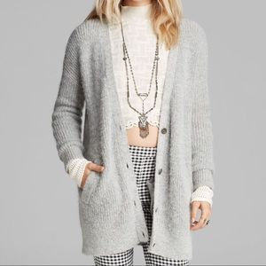 Free People cloudy day oversized grandpa cardigan